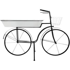 """Metal 30"""" H Bike Planter, White KD"""