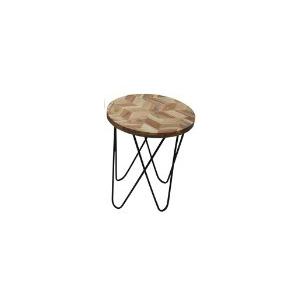 "19"" Side Table, Natural Black"