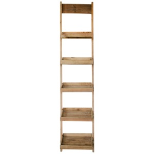 "Wood/Metal 77"" Ladder Shelf - Brown"