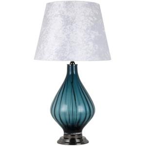 "Glass 30.25"" Art Lamp Table Lamp - Blue"