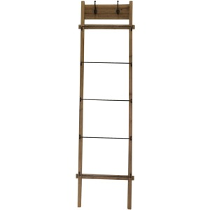 "Wood Metal 76"" Ladder - Brown"