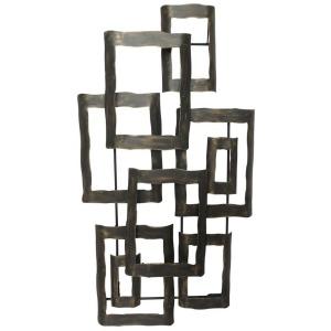 "Metal 19"" Contemporary Wall Decor - Antique Bronze"