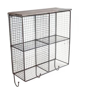 4-bin Wall Storage, Brown
