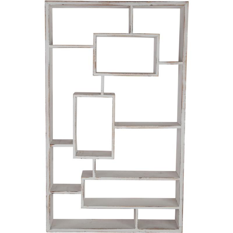 Wooden Multi-tier Wall Shelf, Whitewash