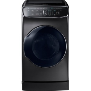 7.5 cf gas dryer w/ Multi-Steam (Black Stainless)