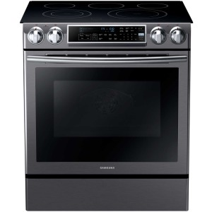 """30"""" Electric Slide in Range, Guide Light, 5.8 Cuft, Dual Convection"""