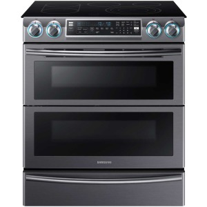 Flex Duo Slide in Electric Range,  Dual  Door,  WiFi, LED Knobs,