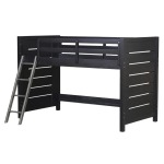 Graphite Twin Mid Loft Bed Ends