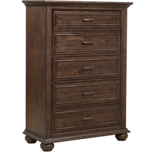 Chatham Park Paneled Wooden 5 Drawer Chest