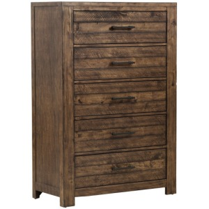 Dakota Chest with Five Drawers and Distressed Finish