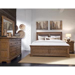 American Attitude King-California King Uph Sleigh Bed
