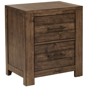 Dakota Nightstand with Two Drawers and Distressed Finish