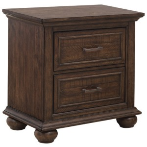 Chatham Park Paneled Wooden 2 Drawer Nightstand