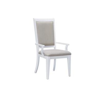 Brighton White Arm Chair