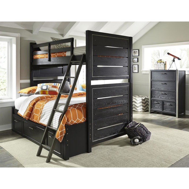 Graphite Twin Bunk Bed Ends