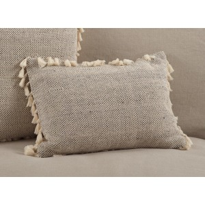 "Tasseled Moroccan Pillow - 14"" x 20"""