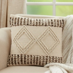"""Woven Textured Pillow - 18"""" Square"""