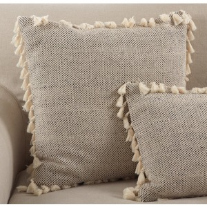 "Tasseled Moroccan Pillow - 20"" Square"