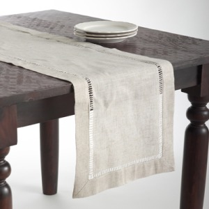 "Hemstitched Runner - 16""x90"" - Oblong"