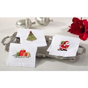"Hemstitched [Santa] Towel 14""x22"""