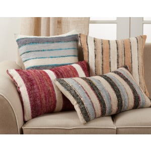 "Striped Pillow 16""x24"" Oblong - Natural"
