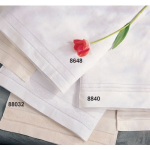 """Embr. and Hemstitch Pillow Cases 20""""x30"""" Oblong"""