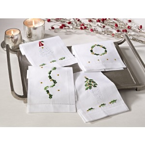 """Hemstitched Holiday Towel 14""""x22"""""""