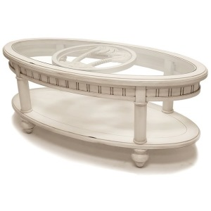 Oval Coffee Table w/Anchor Insert