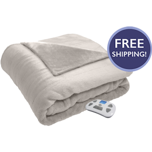Silky Plush Heated Blanket Ivory