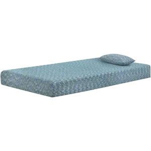 iKidz Blue Twin Mattress and Pillow