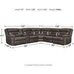 Kincord 4-Piece Reclining Sectional with Power
