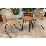 Coral Sand Outdoor Chairs with Table Set (Set of 3)