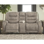 Yacolt Power Reclining Loveseat with Console