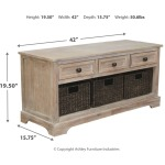 Oslember Storage Bench