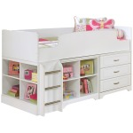 Lulu Twin Loft Bed with Storage and Bookcase