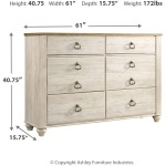 "Willowton Dresser 61"" Wide"