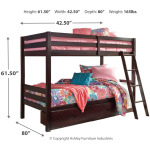 Halanton Twin over Twin Bunk Bed with Storage