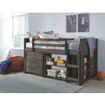 Caitbrook Twin Loft Bed with Storage