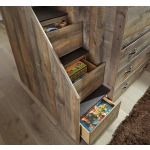 Trinell Twin Loft Bed with 2 Bookcases