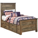 Trinell Twin Panel Bed with Drawer Storage