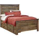 Trinell Full Panel Bed with Storage