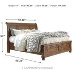 Flynnter Queen Storage Sleigh Bed