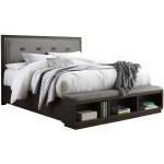 Hyndell California King Upholstered Panel Bed with Storage