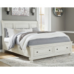 Robbinsdale King Sleigh Bed with Storage