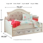 Realyn Twin Daybed with 1 Large Storage Drawer