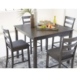 Bridson Counter Height Dining Room Table and Bar Stools (Set of 5)