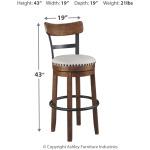 Valebeck Bar Height Bar Stool