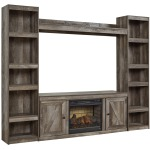 Wynnlow 4-Piece Entertainment Center with Electric Fireplace