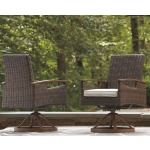 Paradise Trail Swivel Chair with Cushion (Set of 2)