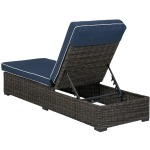 Grasson Lane Chaise Lounge with Cushion